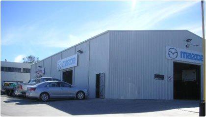 Industrial shed used for mechanics workshop