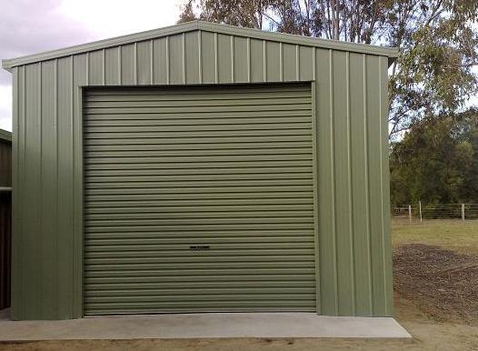 Buy single car garages kits brisbane queensland shed for Single garage kit