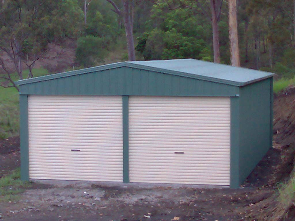 A Double Garage in a Rural Setting