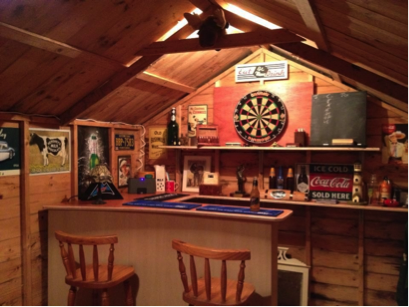 bar in the shed