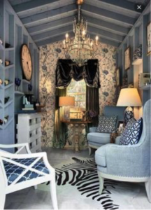glam shed interior