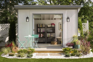 shed used as backyard escape